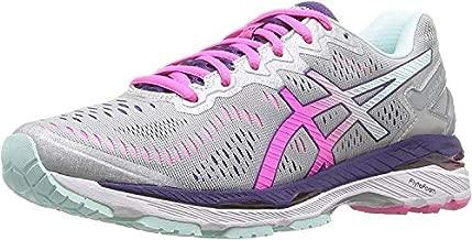 ASICS Women's Gel-Kayano 23 Running Shoe, Silver/Pink Glow/Parachute Purple, 6.5 M US