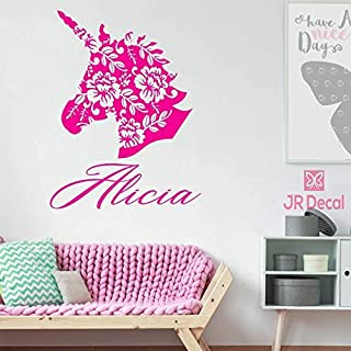 Unicorn name Personalised wall stickers, vinyl Wall decal for girls room, personalised baby girls nursery sticker, Unicorn Wall Sticker for girls, Nursery name stickers
