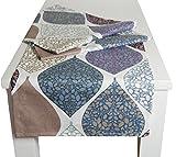 beties Momente XL Tischläufer ca. 40x220 cm in interessanter Größenauswahl hochwertig & angenehm 100% Baumwolle Farbe Hortensie