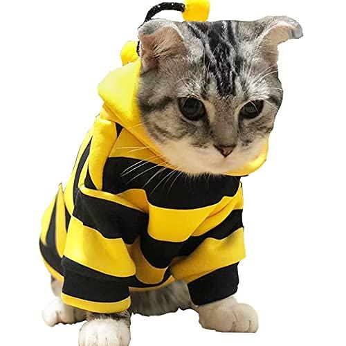 Anelekor Pet Bee Halloween Costume Dog Hoodies Cat...