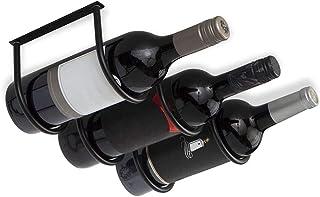 LOGO De Metal Estante del Vino montado en la Pared o Debajo del gabinete 3 Botella seccional del Organizador del almacena...
