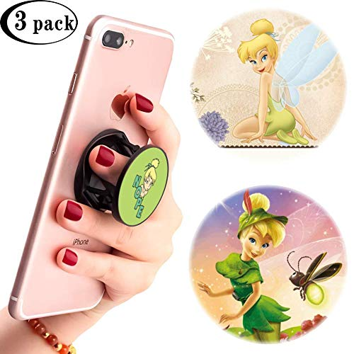 3 Pack/Multifunction Disney Cell Phone Stand Holder and Grip Tinker Bell She Says Nope Foldable Phone Kickstand Mount Compatible for Smartphones