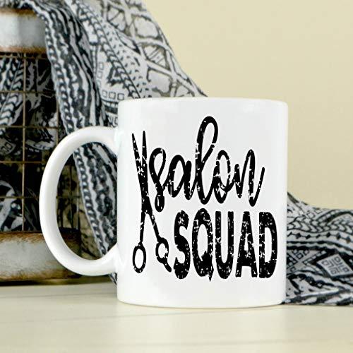 Taza de salón Squad, regalo de estilista, taza de café, bonita taza de salón, cámara, regalo de cosmetólogo, regalo para empleados de salón