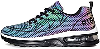 QAUPPE Mens Womens Reflective Air Cushion Running Shoes...