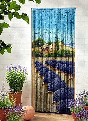 Leguana Bambusvorhang Türvorhang Dekovorhang Lavendel XL 115x220cm
