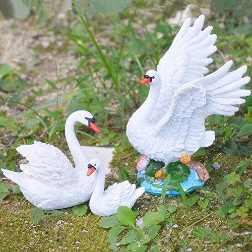 Shipenophy Swan Garden Decor, Resina Swan Decor Fadeless Garden Decor Swan Figurine Decor para la Escena del Mercado