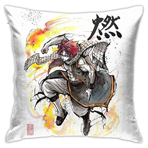 zhaoyang Natsu de Fairy Tale - Fundas para cojines decorativos para sofá de 18 x 18 pulgadas
