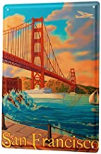"Bestauseller Tin Sign City San Francisco 12""X8""(20x30cm)"