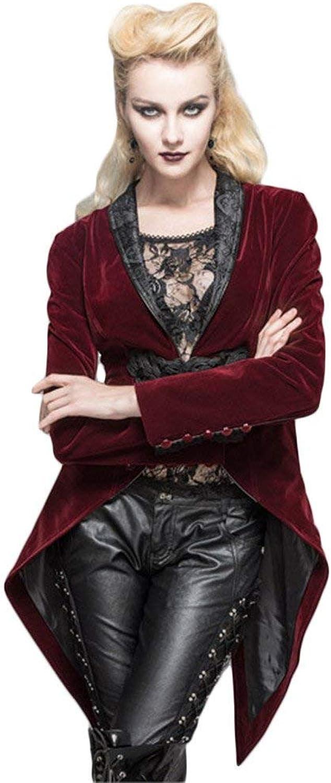 Devil Fashion Women Swallow Tail Retro Jackets Stempunk Victorian Palace Formal Jacket Coat