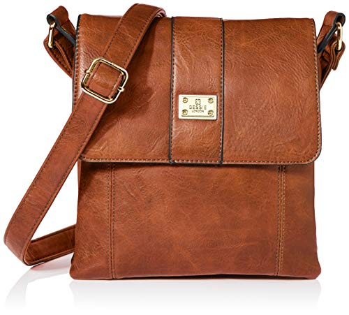 Bessie London Damen Crossbody-Umhängetasche, hautfarben, ONE Size