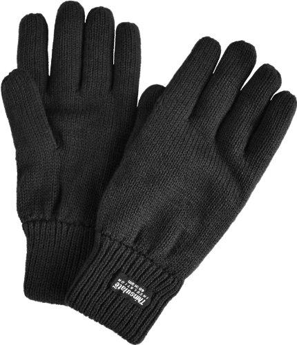 normani Strick Fingerhandschuhe mit Thinsulatefütterung Winterhandschuhe Farbe Schwarz Größe XL