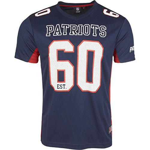 Majestic NFL NEW ENGLAND PATRIOTS Moro Mesh Jersey T-Shirt, Größe:M