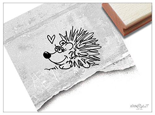 Stempel Tierstempel Motiv IGEL - Kinderstempel Geschenk für Kinder Kita Kinderzimmer Schule Einschulung Geburtstag Basteln Herbst Deko - zAcheR-fineT