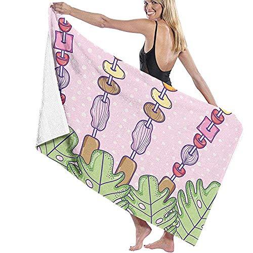Lfff Sommerfrucht Weiche Leichte Saugfähigen für Bad Schwimmbad Yoga Pilates Picknickdecke Mikrofaser Handtücher 80 cm * 130 cm