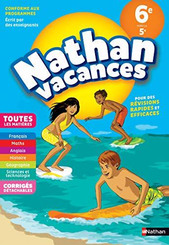 Cahier de Vacances 2020 de la 6ème vers la 5ème, toutes les matières