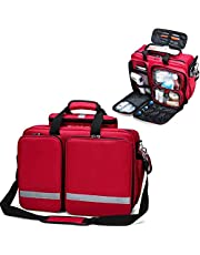 First Response Trauma Bag First Aid Empty Kit Bag, for Emergencies at Home, Outdoors, Car, Camping, Workplace, Hiking & Survival