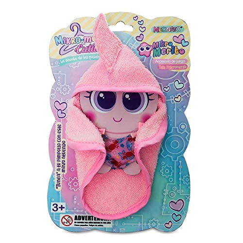 Distroller Summer Beach Vacations Clothing Swimming Set of Towel with Cute Pink Baby Shark Design, and One-Piece Onesie with Crabby Motif for Mikro Nerlie Mikromerito Neonate Baby Doll Accessory