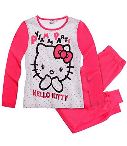 Hello Kitty Mädchen Pyjama/Schlafanzug pink - weiß (152)