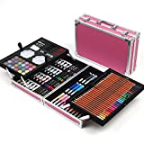 Yhjkvl Art Set de bolígrafos de acuarela, la colección de arte crea acuarela, herramientas de dibujo de color, y 168 juegos de cajas para cubrir, no daña la ropa y el juego de pintura de la piel.