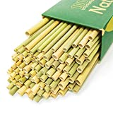 100% Organic Grass Straws Drinking - Pack of 100 Natural Eco Friendly Biodegradable Drinking Straws - Disposable, Safer, Healthier Than Reusable Bamboo Straws Reusable, Paper, Wheat, Plastic Straws