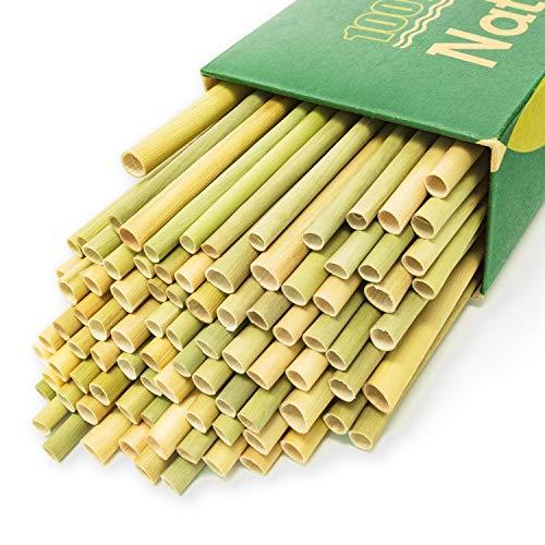 100% Organic Grass Bamboo Drinking Straws - Pack of 100