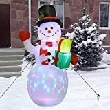 Muñeco De Nieve Inflable Navideño, 59 Pulgadas En Decoración De Árbol De Navidad, Decoración Navideñ...
