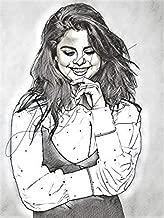 Selena Gomez Sketch Drawing Print Poster Hand Drawn Pencil Singer #GOMEZ_SKETCH3