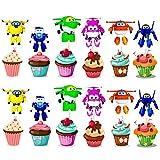 BESTZY 120pcs Super hombre volador Cupcake Toppers Decoración Tartas de Cumpleaños Pasteles Peter Pan Torta Primeros Magdalena Kit Pastel Para Niños Niñas