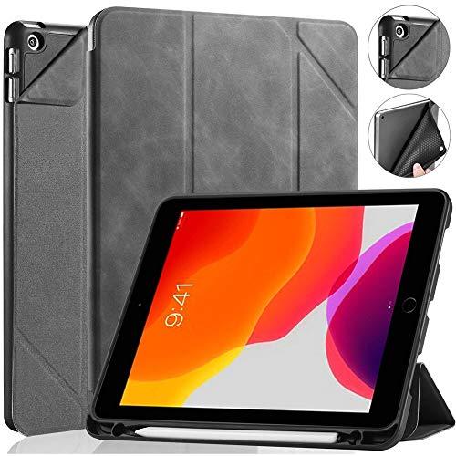 RZL PAD & TAB cases For iPad 10.2 7th 8th Generation 2019 2020, Folio Flip Funda Tablet Smart Case for iPad Mini 4 5 for iPad 9.7' 2017 2018 (Color : Gray, Size : For ipad mini 4 5)