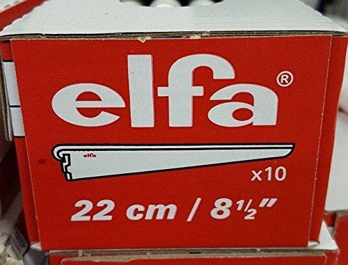 Ten Pack of 22cm / 8.5 inch Elfa Bracket for Solid Shelving White Storage Shelf