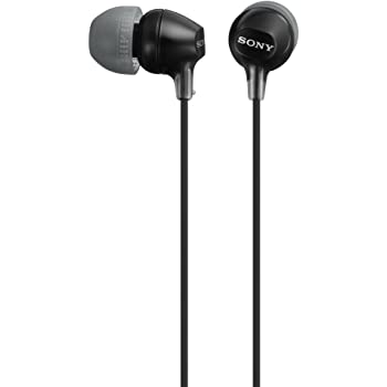 Sony MDREX15LP in-Ear Earbud Headphones, Black, Model Number: MDREX15LP/B