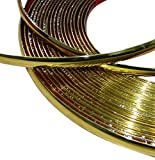 AERZETIX: 12mm 4.5m Tira adhesiva para decoracion color oro dorado C40132