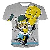 Aatensou The Simpsons T-Shirt Jungen Mädchen T-Sh