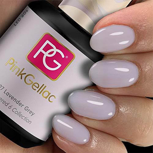 Pink Gellac 297 Lavender Grey color esmalte gel permanente