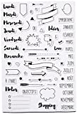 Aladine- 03912 - STAMPO Planner Bullet Journal - 58 tampons mousses