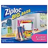 Ziploc Big Bags, Large, 5 Count