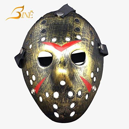 Bine Friday The 13TH horror hockey Jason VS. Freddy Mask Halloween costume Prop, Bronze
