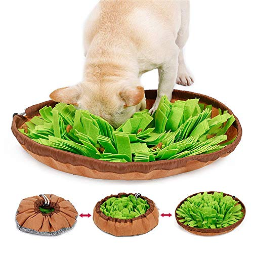 Urijk Schnüffelteppich Intelligenzspielzeug für Haustier Interaktives Spielzeug Hund Riechen Trainieren Spielzeug Fördert Natürliche Nahrungssuche Hundespielzeug Spielen Matte Toy
