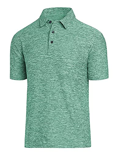 Men's Dry Fit Golf Polo Shirt Light Green
