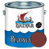 Halvar Betonfarbe / Bodenbeschichtung SEIDENMATT Rot RAL 3000-3031 Fassadenfarbe (1 L, RAL 3009 Oxidrot)