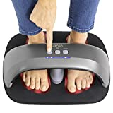 Vive Heated Foot Massager - Shiatsu Massaging Machine with Heat - Electric and Portable for Home, Office, Women, Men - Kneading Intensity for Deep Tissue Circulation and Plantar Fasciitis Pain Relief