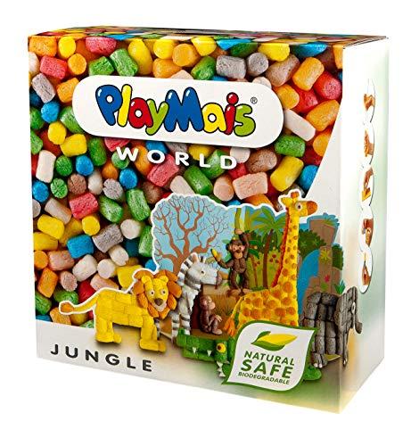 PlayMais World Jungle Bastel-Set für Kinder ab 3 Jahren | Circa 1000, Vorlagen & Anleitungen zum Basteln | Geschenke für Kinder | Fördert Kreativität & Feinmotorik | Natürliches Spielzeug