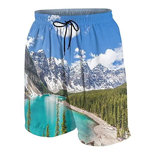 Alvaradod Traje de baño Personalizado para Hombre Ropa de Playa Trajes de baño Shorts de baño Trajes de baño S