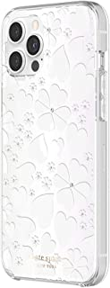 Sponsored Ad - kate spade new york Protective Hardshell Case Compatible with iPhone 12 Pro Max - Clover Hearts Knockout Pe...