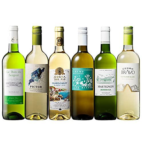 白ワイン セット 辛口 楽しく 飲み比べ 6本セット