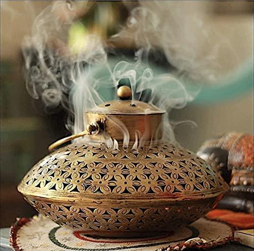 "AppyHut Cone Incense Burner Charcoal Resin Hanging Incense Holder, Antique Home Room Wall Decor Spiritual Reiki Yoga Meditation Gifts for Women Men,Zen Hippie Bohemian Boho Decor-Big(9x13x15)"""