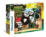 Clementoni- Kung Fu Panda Supercolor Puzzle, 24 Pezzi, 24475