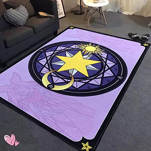 Carbuy Cartoon Magie Array Anime Rechthoekige speelmat Lumpen, anti-slip schrawling mat ideaal geschenk slaapkamer woonkamer deurmat schattig roze baby spel tapijt