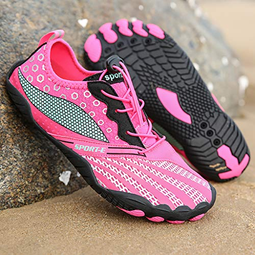 CO&CO Zapatos Agua De Playa Secado Rápido Nadar Zapatillas Deporte De Buceo Fitness Walk Jogging Al Aire Libre Zapatos Descalzos(Size:40)