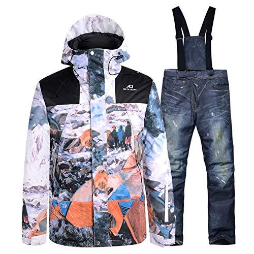 Ropa de esquí -30 hombres y mujeres nuevos nieve desgaste impermeable a prueba de viento Traje Establece los trajes de Snowboard Ropa de invierno al aire libre de las chaquetas de esquí + Pantalones T